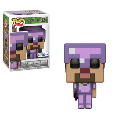 Steve in Enchanted Armor #324 - Minecraft Toys R Us Exclusive