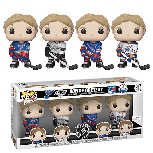 Wayne Gretzky 4pk - NHL St. Louis Kings Rangers Oilers Fanatics Exclusive