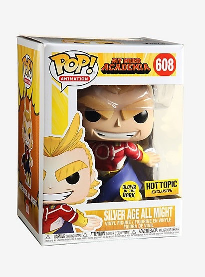 Silver Age All Might #608 - My Hero Academia Hot Topic Exclusive (Glows) GITD
