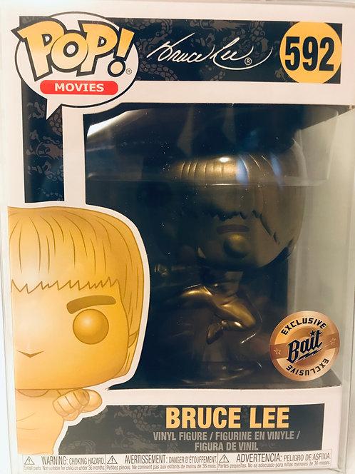 Bruce Lee #592 Kicking Gold Funko Pop SDCC 2019 BAIT Exclusive