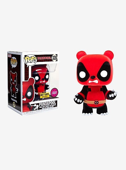 Pandapool #328 Flocked CHASE - Deadpool Hot Topic Exclusive Dead Pool