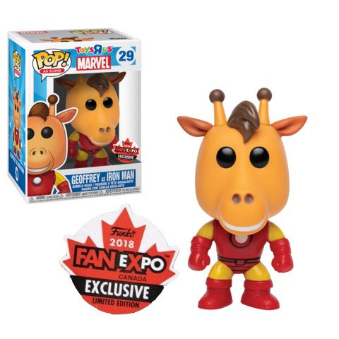Geoffrey as Iron Man #29 - Toys R Us Fan Expo Exclusive (Official Sticker)
