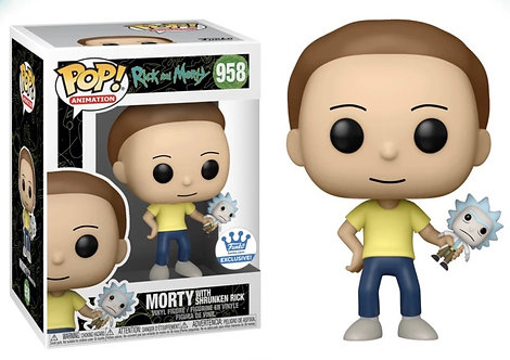 Morty with Shrunken Rick #958 - Rick and Morty Funko Shop Exclusive