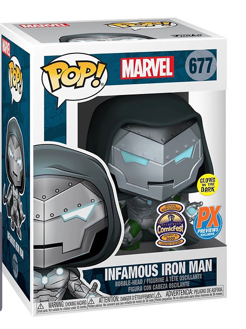 Infamous Iron Man #677 - Marvel Halloween Comic Fest PX Exclusive GITD