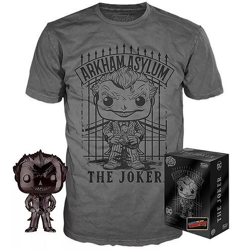 Black Chrome Joker & Tee Shirt Bundle Arkham Asylum Target Exclusive T-Shirt XL