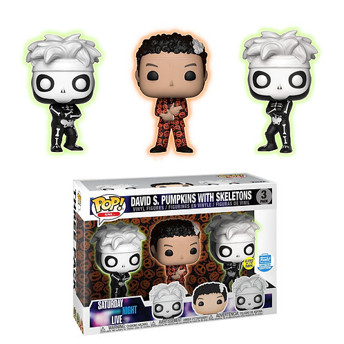 David S. Pumpkins with Skeletons 3 Pack - SNL Funko Shop Exclusive