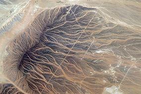 Luchtfoto van Desert