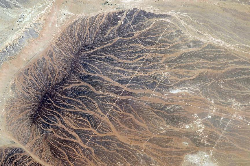 Vue aérienne du désert