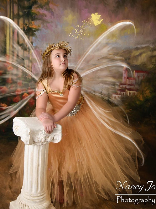 Gold Fairy Flower Girl Dress /Gold Fairy Dresses /Princess Dress/Fairy/Wedding