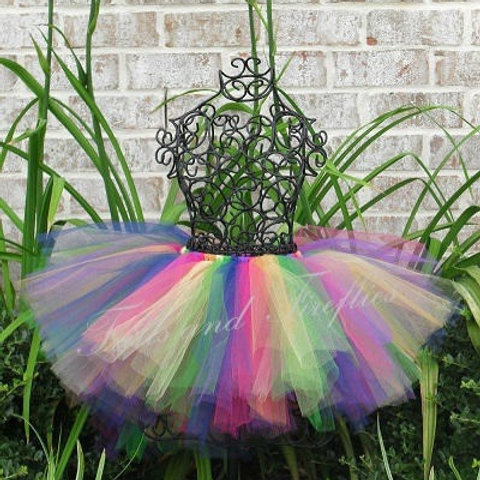 Rainbow Tutu Tulle SKIRT - Many Colors -Baby to Adult Si