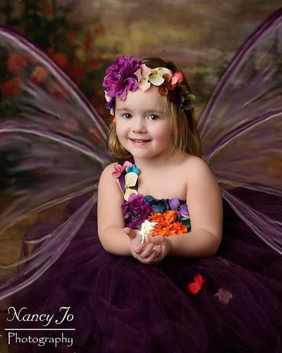 81077fe6c Eggplant Woodland Fairy Flower Girl Dress / Plum Fairy Dresses /Princess  Dress