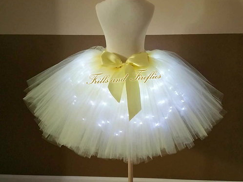 Yellow LED Lighted Tulle Tutu Skirt - Many Colors - Baby to Adul