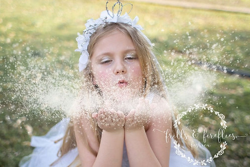 Matching Headpiece for our Snow Fairy Flower Girl Dress