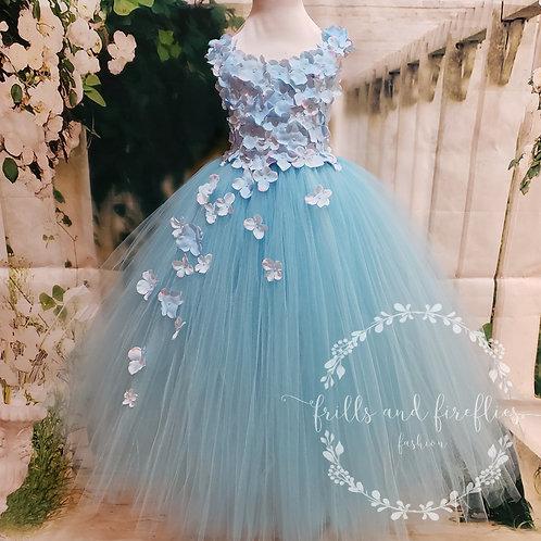 Light/Pale Blue Flower Girl Dress/Bridesmaid Dress/Prom Dress/Girls Dresses