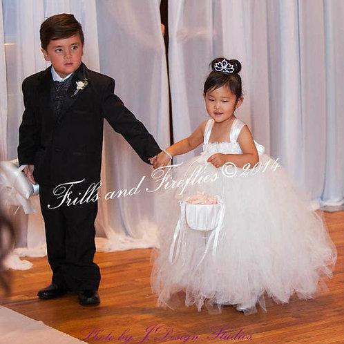 Ivory Shabby Chic Flower Girl Dress/Prom Dress/Formal Dress/Baby up to Sz 12