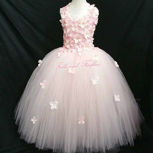 Pink Flower Girl Dress in Sizes 1t up to 12
