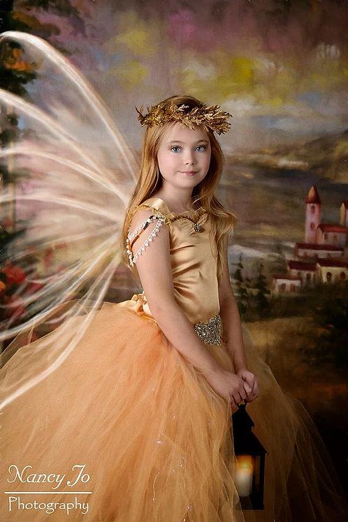 Gold Fairy Flower Girl Dress / Gold Fairy Dresses /Princess Dress/Fairy/Farie