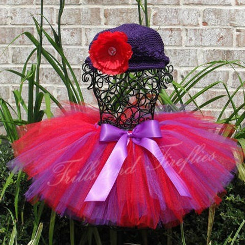Red and Purple TULLE TUTU SKIRT - Many Colors -Baby to Adult Sizes