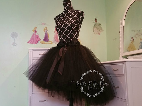 Black High Low Tulle Tutu Skirt - Many Colors - Baby to Adult Sizes