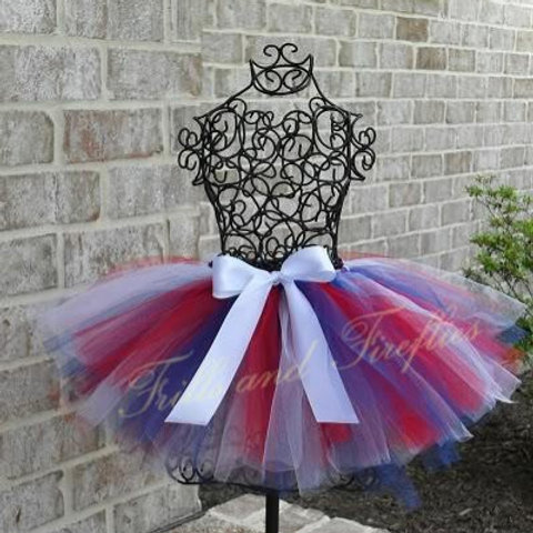 Red, White and Blue TULLE TUTU SKIRT - Many Colors -Baby to Adult Sizes