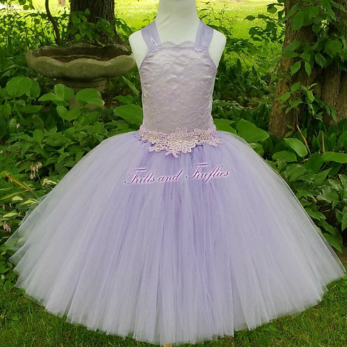 Lavender Lace Corset Style Flower Girl Dress Size 1t up to 12