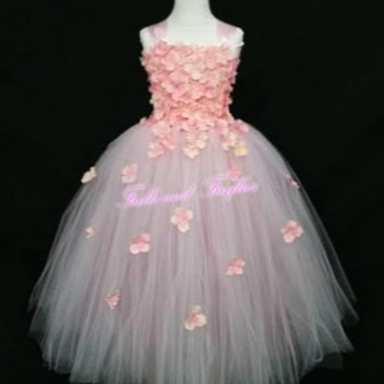 Pink and Rose Mauve Flower Girl Dress in Sizes 1t up to 12