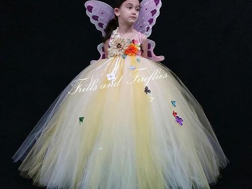 Sunflower Fairy Flower Girl Dress,  Sizes 1t up to 12