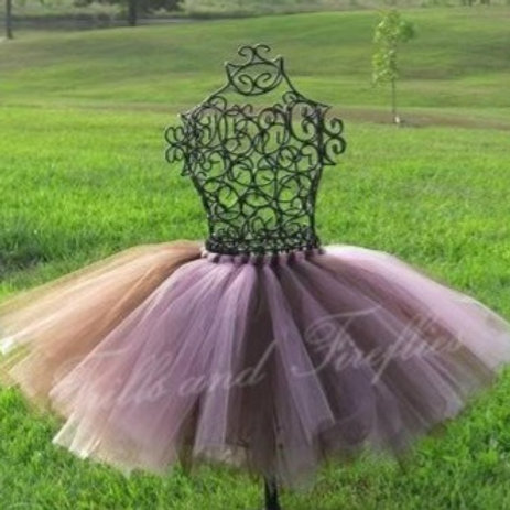 Pink and Brown Tutu Tulle SKIRT - Many Colors -Baby to Adult Si