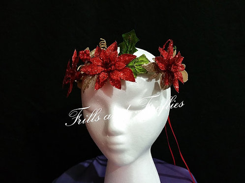 Matching Headpieces for our Red Holiday Fairy Dress
