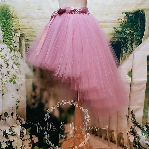 Mauve High Low Tulle Tutu Skirt - Many Colors - Baby to Adult Sizes