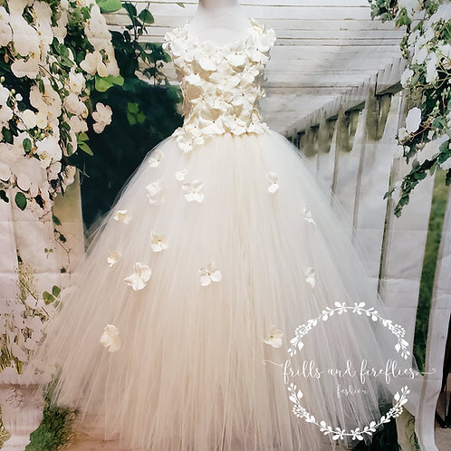 Ivory Flower Girl Dress/Bridesmaid Dress/Prom Dress/Girls Dresses