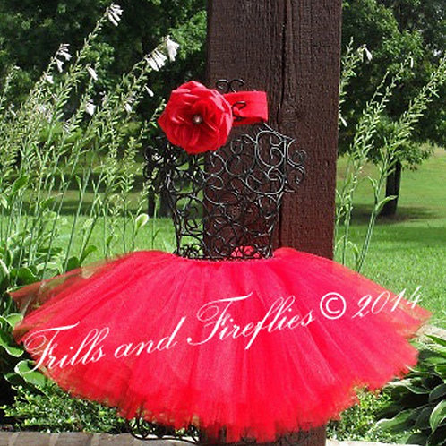 Red Tutu Tulle SKIRT - Many Colors -Baby to Adult Si