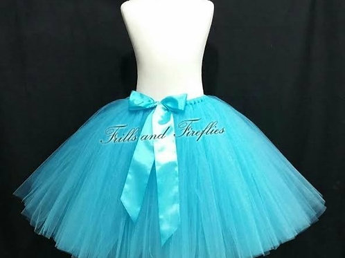 TURQUOISE TULLE TUTU SKIRT - Many Colors - Baby to Adult Sizes