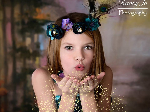Matching Headpiece for our Peacock Flower Girl Fairy Dress