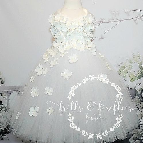 White or Ivory Flower Girl Dress/Prom Dress/Formal Dress/Girls Dresses