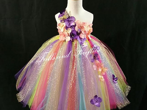 Rainbow Fairy Flower Girl Dress, Other Colors Available Sizes 1t up to
