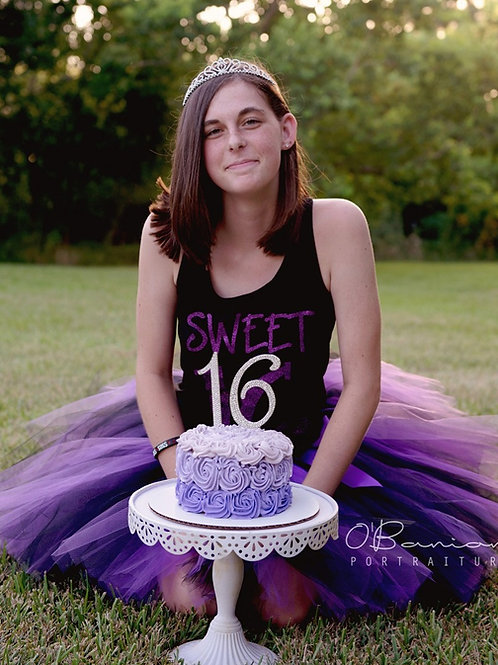 Purple and Black TULLE TUTU SKIRT - Many Colors -Baby to Adult Sizes
