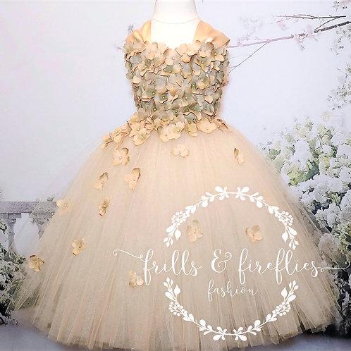 Champagne Flower Girl Dress/Bridesmaid Dress/Prom Dress/Girls Dresses