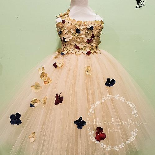 Champagne, Burgundy, Navy Flower Girl Dress/Bridesmaid Dress/Girls dresses