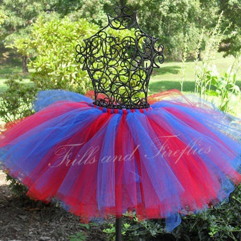 Red and Black Supergirl Tutu Tulle SKIRT - Many Colors -Baby to Adult Si