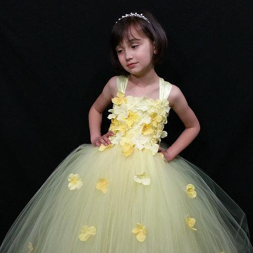 Yellow Flower Girl Dress/Girls Dresses/Bridesmaid Dress/Prom Dress /Wedding