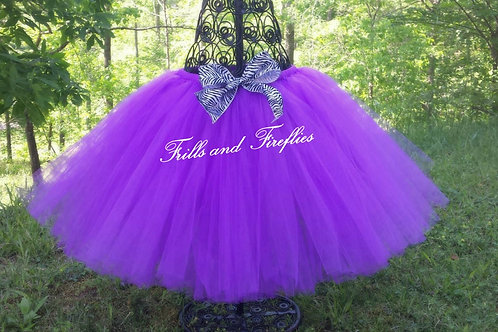 PURPLE TULLE TUTU SKIRT - Many Colors - Children to Adult Sizes