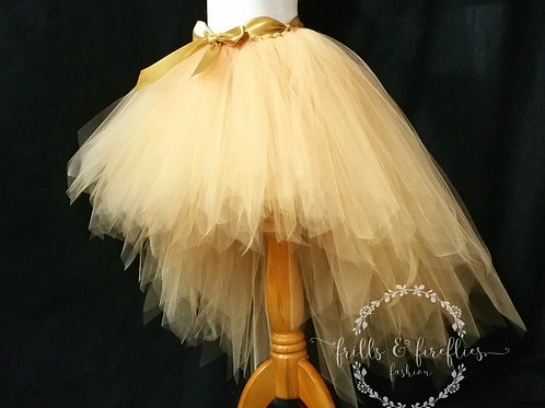 Gold High Low Tulle Skirt - Many Colors - Baby to Adult Sizes
