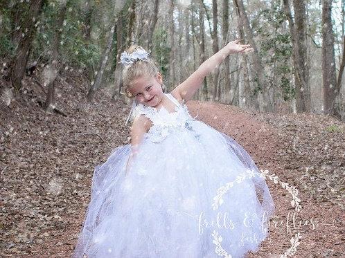 Snow Fairy Dress / Festival Clothing / Fairy / Princess Dress / Girls Dresses