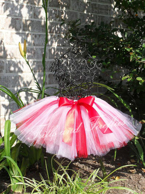 Red, White & Pink TULLE TUTU SKIRT - Many Colors -Baby to Adult Sizes