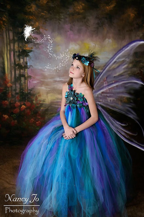 Peacock Fairy Flower Girl Dress, Other Colors Available Sizes 1t up to
