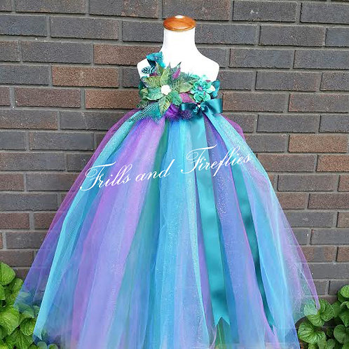 Peacock Flower Girl Fairy Dress, Other Colors Available Sizes 1t up to