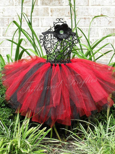 Red and Black TULLE TUTU SKIRT - Many Colors -Baby to Adult Sizes