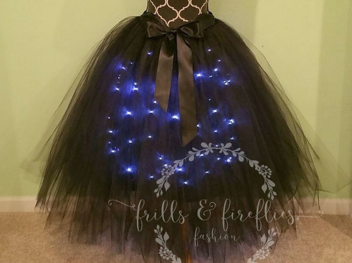 Black LED Lighted Tulle Tutu Skirt - Many Colors - Baby to Adult Sizes