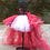 Thumbnail: Red and White High Low Tulle Tutu Skirt - Many Colors - Baby to Adult S